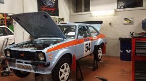 Bilen klar til Rally Hadeland 2014